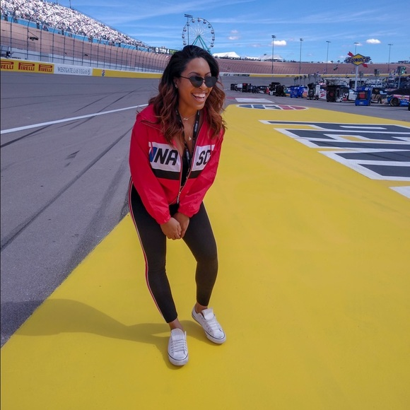 Forever 21 Jackets & Blazers - Nascar Graphic Hooded Windbreaker